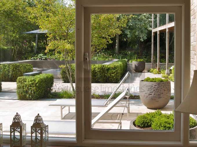 Dorset garden UK – Moleanos limestone
