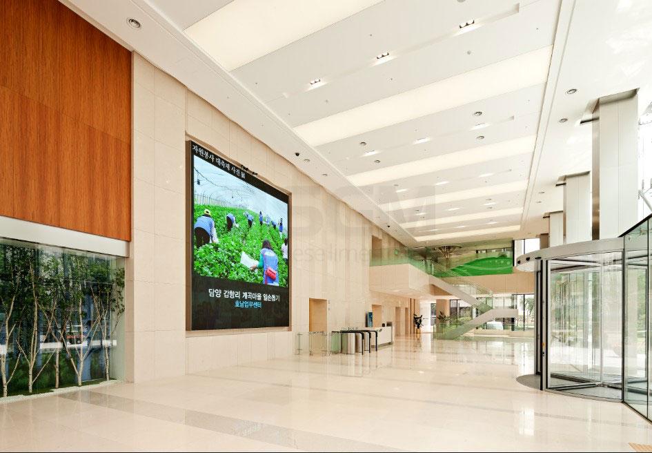 Samsung building Korea – Moleanos Fine limestone